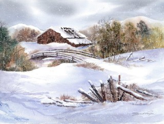 Brown Barn - Janet Payne
