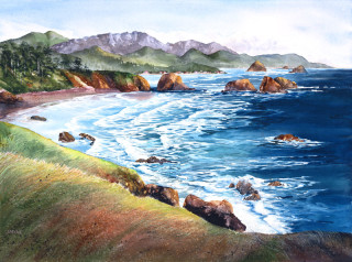 View from the Cliff - Janet Payne